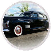 1941 Cadillac Coupe Round Beach Towel by Paul Ward