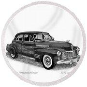 1941 Cadillac Fleetwood Sedan Round Beach Towel