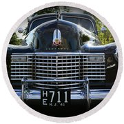 1941 Cadillac Front End Round Beach Towel