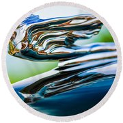 1941 Cadillac Hood Ornament 5 Round Beach Towel