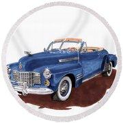 1941 Cadillac Series 62 Convertible Round Beach Towel