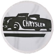 1941 Chrysler Indianapolis 500 Pace Car Round Beach Towel