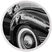 1941 Packard 110 Deluxe -1092bw Round Beach Towel