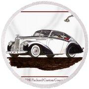 Packard Custom Coupe 120 Round Beach Towel