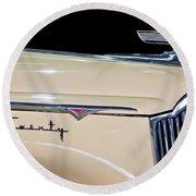 1941 Packard Hood Ornament Round Beach Towel