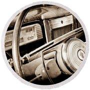 1941 Packard Steering Wheel Emblem Round Beach Towel