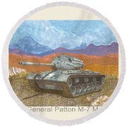1941 W W I I Patton Tank Round Beach Towel