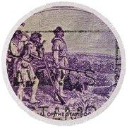 1942 Kentucky Statehood Stamp Round Beach Towel