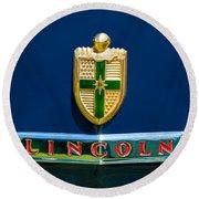 1942 Lincoln Continental Cabriolet Emblem Round Beach Towel
