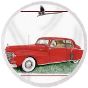 1942 Lincoln Continental Coupe Round Beach Towel