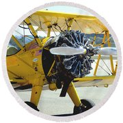 1943 Boeing Super Stearman 2 Round Beach Towel