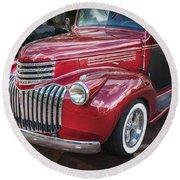 1946 Chevrolet Sedan Panel Delivery Truck  Round Beach Towel