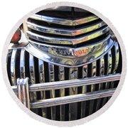 1946 Chevrolet Truck Chrome Grill Round Beach Towel