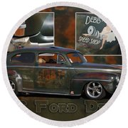 1946 Ford Deluxe Round Beach Towel