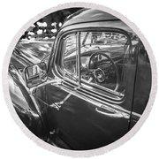 1946 Hudson Super Six Sedan Bw Round Beach Towel