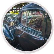 1946 Hudson Super Six Sedan  Round Beach Towel