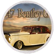1947 Bentley Round Beach Towel