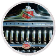 1947 Buick Sedanette Grille Round Beach Towel