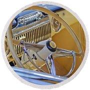 1947 Cadillac 62 Steering Wheel Round Beach Towel