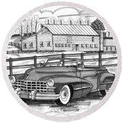 1947 Cadillac Model 52 Round Beach Towel