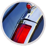1947 Cadillac Model 62 Coupe Taillight  Round Beach Towel