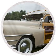 1947 Chrysler Round Beach Towel