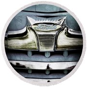 1947 Ford Deluxe Grille Emblem Round Beach Towel