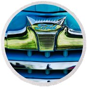 1947 Ford Deluxe Grille Ornament -0700c Round Beach Towel