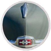 1947 International Hood Emblem Round Beach Towel