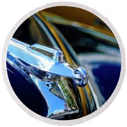 1947 Packard Hood Ornament 4 Round Beach Towel