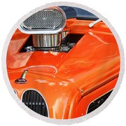 1948 Anglia Engine -522c Round Beach Towel
