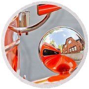 1948 Anglia Rear View Mirror -451c Round Beach Towel