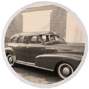 1948 Chevy Round Beach Towel