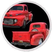 1948 Custom Ford F-100 Pick Up Round Beach Towel
