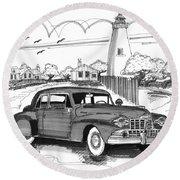 1948 Lincoln Continental Round Beach Towel
