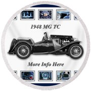 1948 Mg Tc Round Beach Towel