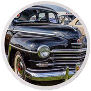 1948 Plymouth Special Deluxe Coupe  Round Beach Towel