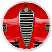 1949 Alfa Romeo 6c 2500 Ss Pininfarina Cabriolet Grille Round Beach Towel