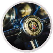 1949 Buick Roadmaster Riviera Coupe Steering Wheel Emblem Round Beach Towel