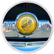 1949 Chrysler Windsor Grille Emblem Round Beach Towel