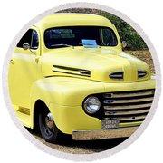 1949 Ford Pickup Round Beach Towel