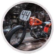 1949 Harley Davidson Round Beach Towel