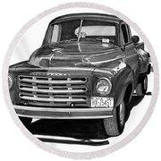 1949 Studebaker Pick Up Truck Round Beach Towel