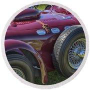 1950 Allard J2 Competition Roadster Round Beach Towel