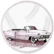 1953 Cadillac El Dorado Round Beach Towel
