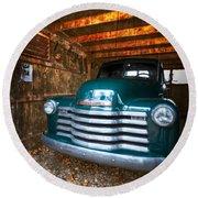 1950 Chevy Truck Round Beach Towel by Debra and Dave Vanderlaan
