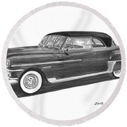 1950 Chrysler Newport Round Beach Towel