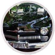 1950 Crysler Mercury Round Beach Towel