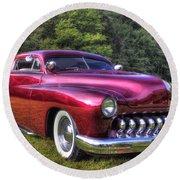 1950 Custom Mercury Round Beach Towel