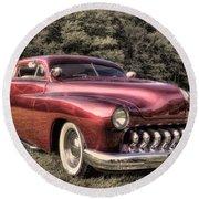 1950 Custom Mercury Subdued Color Round Beach Towel